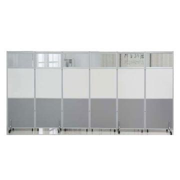 办公室隔断移动屏风 1000*2000板式加玻璃款一款含铝合金脚