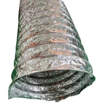 LKESS 耐高溫單層鋁箔風管,LKE412-76mm,內徑76mm,10米/條,持續高溫不超150度