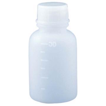 亚速旺(ASONE)PE制窄口瓶(带内盖) 30ml 1个,1-4657-01
