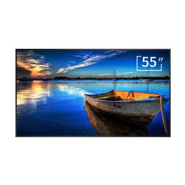 松下(panasonic)55英寸顯示器,壁掛超薄廣告機,豎屏分屏,展廳會議商場廣告商業大屏 保修3年