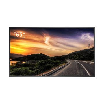 松下(panasonic)65英寸壁掛超薄廣告機顯示器豎屏分屏展廳會議商場廣告屏商業大屏 保修3年
