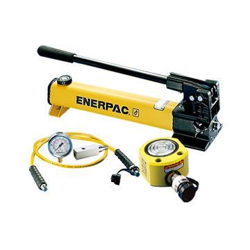 恩派克ENERPAC 超薄型液压缸套装,75ton,RSM-750(含油缸+手动泵+软管+压力表+表座)