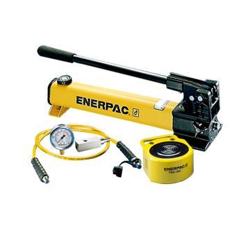 恩派克ENERPAC 超薄型液压缸套装,10ton,RSM-100(含油缸+手动泵+软管+压力表+表座)