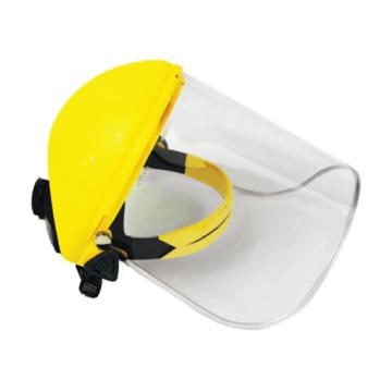 洁适比JSP 防护面屏套装, 02-3230,帕洛玛防冲击面罩含头戴式支架(黄) PC标准型透明面屏