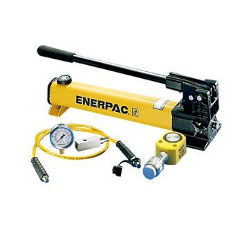 恩派克ENERPAC 超薄型液压缸套装,5ton,RSM-50(含油缸+手动泵+软管+压力表+表座)
