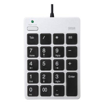 山業SANWA SUPPLY USB數字鍵盤NT-18USV 1個