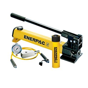 恩派克ENERPAC 单作用液压缸套装,25ton,158mm,RC-256*(含油缸+手动泵+软管+压力表+表座)