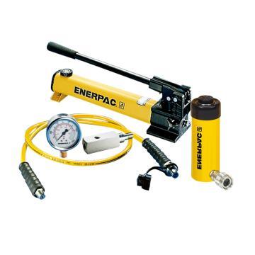 恩派克ENERPAC 单作用液压缸套装,15ton,152mm,RC-156*(含油缸+手动泵+软管+压力表+表座)