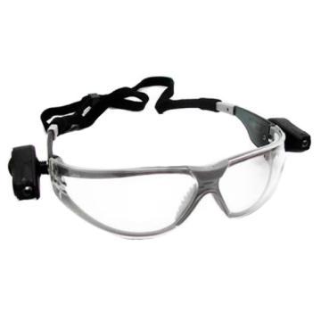 3M 防護眼鏡,11356,帶雙射燈 防霧