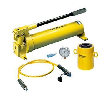 恩派克ENERPAC 中空柱塞液压缸套装,60ton,76mm,RCH-603*(含油缸+泵+软管+表+表座)