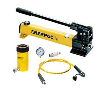 恩派克ENERPAC 中空柱塞液压缸套装,20ton,49mm,RCH-202*(含油缸+泵+软管+表+表座)
