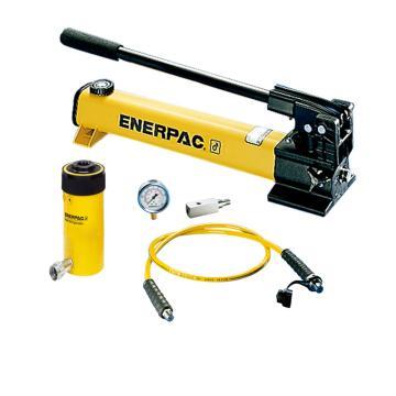 恩派克ENERPAC 中空柱塞液压缸套装,13ton,76mm,RCH-123(含油缸+泵+软管+表+表座)