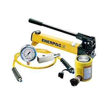 恩派克ENERPAC 薄型液压缸套装,45ton,RCS-502*(含油缸+手动泵+软管+压力表+表座)