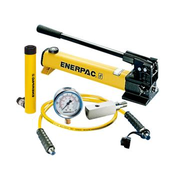 恩派克ENERPAC 單作用液壓缸套裝,10ton,105mm,RC-104(含油缸+手動泵+軟管+壓力表+表座)