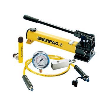 恩派克ENERPAC 單作用液壓缸套裝,5ton,76mm,RC-53(含油缸+手動泵+軟管+壓力表+表座)