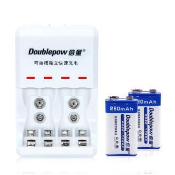倍量 充电电池加充电器,9V