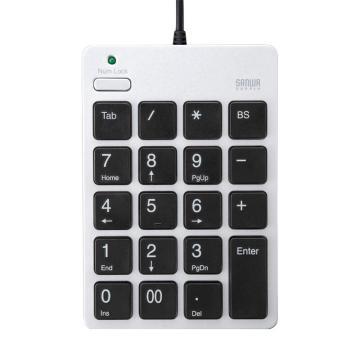 山業SANWA SUPPLY USB數字鍵盤 帶集線器NT-18UH2SV 1個