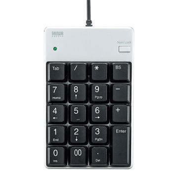 山業SANWA SUPPLY USB數字鍵盤 帶集線器NT-17UH2SVN 1個