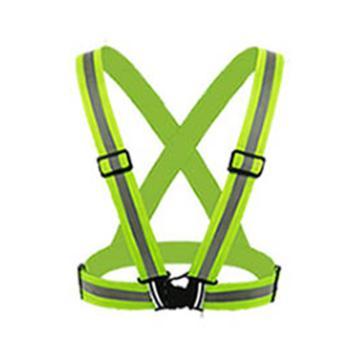 安賽瑞 反光背帶,滌綸面料,熒光黃綠,均碼,21604,5件/包