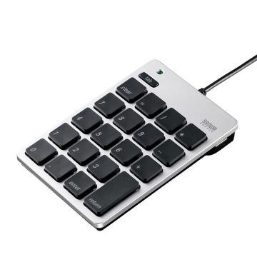 山業SANWA SUPPLY USB數字鍵盤 MAC專用NT-M18UHSV 1個
