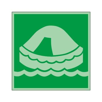 安赛瑞 船用IMO安全标识-撤离滑梯,自发光不干胶,150×150mm,21005