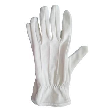西域推荐 白色细线手套,均码,1付