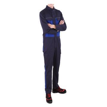 泰普士 60%棉40%涤,防静电连体服,双蓝,ESD17CVC1202BB-3XL