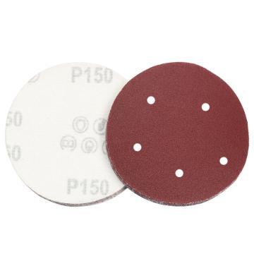 3M216U背絨圓砂紙,180#,5寸5孔, 100張/盒