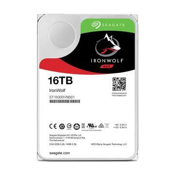希捷酷狼硬盘,网络存储(NAS)硬盘 ST16000VN001 16TB SATA接口
