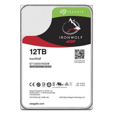 希捷酷狼硬盘,网络存储(NAS)硬盘 ST12000VN0008 12TB SATA接口