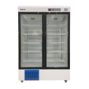 山东博科 医用冷藏箱,2-8℃,双开门,容积:588L,BYC-588