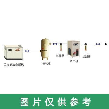 英格索兰IR 空压机配套系统,无油涡旋空压机+冷冻式干燥机+不锈钢储气罐+精密过滤器*3