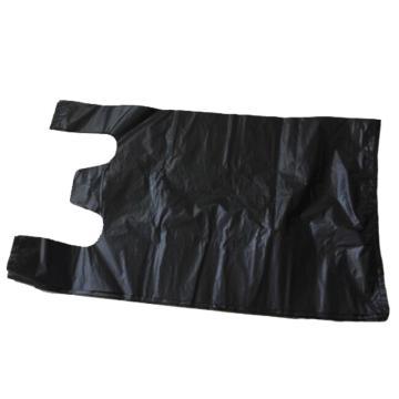 西域推薦 背帶垃圾袋 馬夾袋,黑色,55x55cm,50個每卷,厚度2.6絲 單位:卷