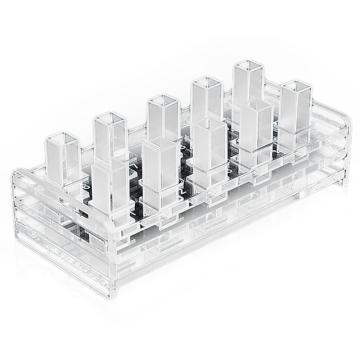 西域推荐 有机玻璃比色皿架 10孔 CC-5226-01