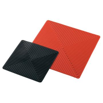 西域推荐 防滑硅胶垫 250×250红色(1片入) 3-6915-01