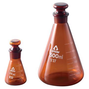 西域推荐 磨口三角烧瓶 100ml 3-9677-02