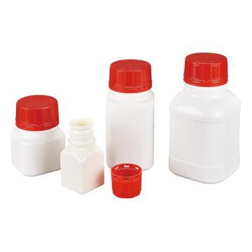 西域推荐 HDPE带防盗盖塑料方形瓶 广口 60ml CC-5318-01