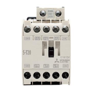 三菱MITSUBISHI 交流线圈接触器,S-T20 AC200V 1A1B