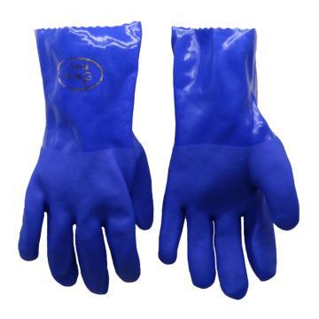 东亚 耐油浸塑手套,蓝色,806-M