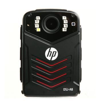 惠普执法记录仪, DSJ-A8 128G 3600万高清 1296P防爆现场 黑色