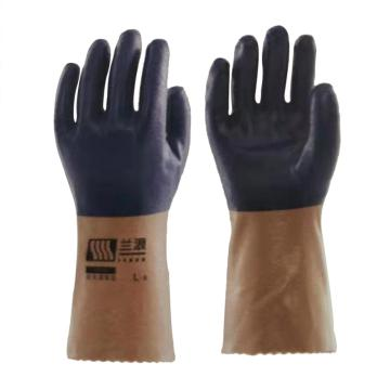 兰浪 丁腈橡胶手套,掌部厚度1.3mm,V320-9