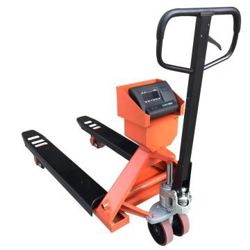 Raxwell 经济型手动称重液压搬运车(带打印功能),载重(T):3 货叉宽度(mm):685,RHMC0012