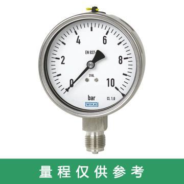 WIKA 压力表,232.50.063系列 0-40MPa M14*1.5 轴向偏心 不充液