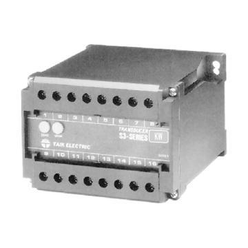 台技 三相三线有功功率变送器,S3-WD-3,100V/1A/50Hz,173.2W~0W~173.2W/4mA~12mA~20mA,0.2级