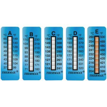 西域推荐 进口测温纸 八格 71~110℃ 1包(10条) CC-5229-01