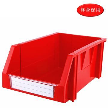 Raxwell 組立背掛零件盒 物料盒,外尺寸規格D*W*H(mm):340×200×155,全新料,紅色,單位:個