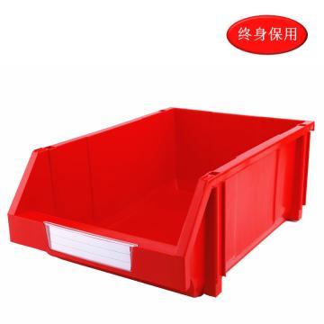 Raxwell 組立背掛零件盒 物料盒,外尺寸規格D*W*H(mm):450×300×177,全新料,紅色,單位:個