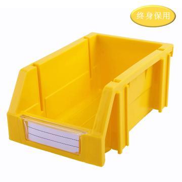 Raxwell 組立背掛零件盒 物料盒,外尺寸規格D*W*H(mm):160×100×74,全新料,黃色,單位:個