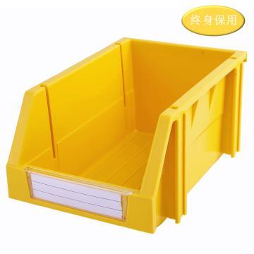 Raxwell 組立背掛零件盒 物料盒,外尺寸規格D*W*H(mm):240×150×124,全新料,黃色,單位:個