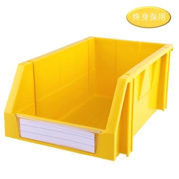 Raxwell 組立背掛零件盒 物料盒,外尺寸規格D*W*H(mm):340×200×155,全新料,黃色,單位:個